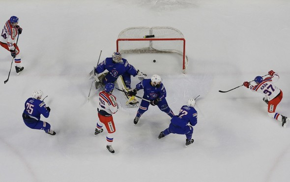Match de hockey France - Lettonie