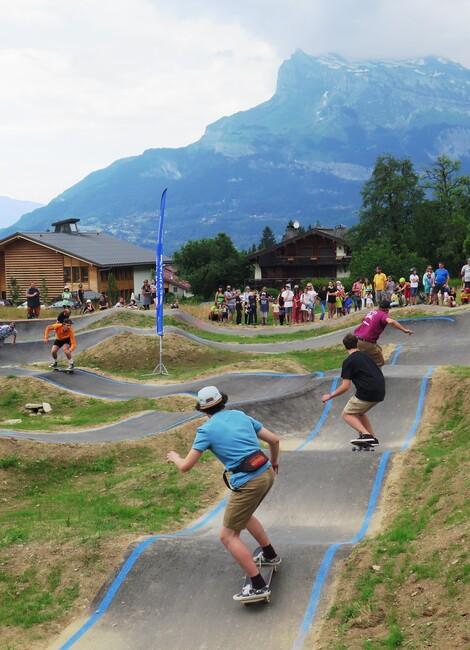 Contest au Pump Track de Saint-Gervais