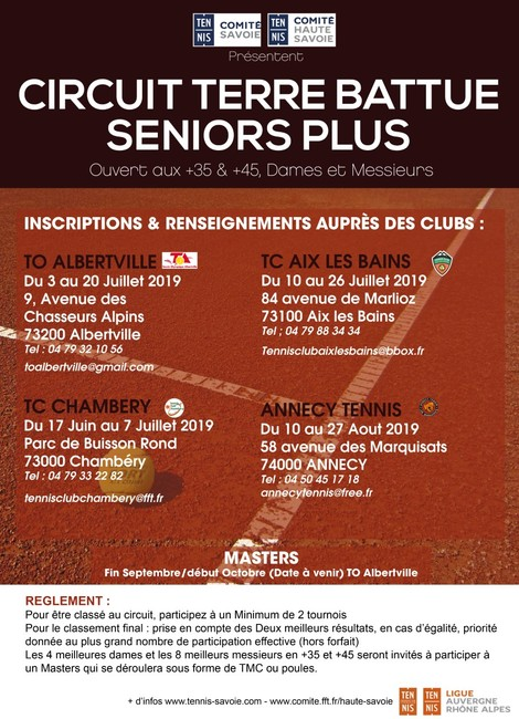 Tournois Seniors +