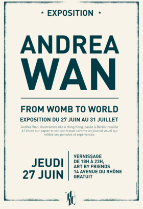 Vernissage FROM WOMB TO WORLD - Andrea Wan