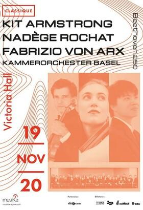 Kit Armstrong, Nadège Rochat, Fabrizio von Arx & Kammerorchester Basel